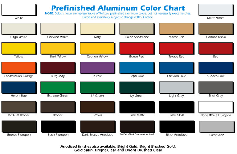 Pictures of Anodized Aluminum Color Chart - #rock-cafe